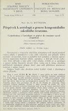 Obálka pro Příspěvek k aetiologii a genese kongenitálního sakrálního teratomu / Contribution à l'aetiologie et génèse du teratome sacral congénital