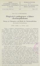 Příspěvek k pathogenese a klinice chorionepitheliomu / Beitrag zur Pathogenese und Klinik des Chorionephithelioms