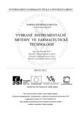 Obálka pro Vybrané instrumentální metody ve farmaceutické technologii