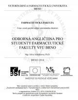 Obálka pro Odborná angličtina pro studenty farmaceutické fakulty VFU Brno