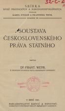 Obálka pro Soustava československého práva státního