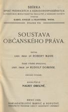 Obálka pro Soustava občanského práva. Kniha prvá, Nauky obecné. 2. vyd.