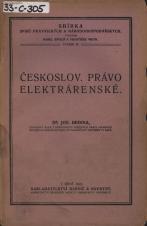 Obálka pro Čsl. právo elektrárenské