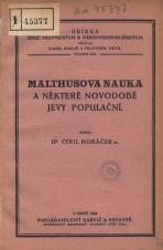 Obálka pro Malthusova nauka a některé novodobé jevy populační