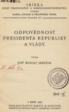 Obálka pro Odpovědnost presidenta republiky a vlády
