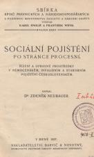 Obálka pro Sociální pojištění po stránce procesní : řízení a opravné prostředky v nemocenském, invalidním a starobním pojištění československém