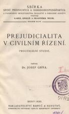 Obálka pro Prejudicialita v civilním řízení : procesuální studie