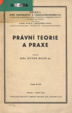 Obálka pro Právní teorie a praxe