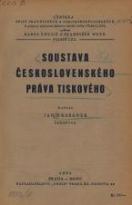 Obálka pro Soustava československého práva tiskového