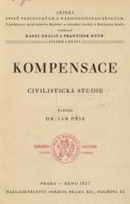 Obálka pro Kompensace : civilistická studie