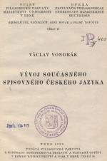 Obálka pro Vývoj současného spisovného českého jazyka