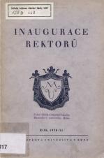 Obálka pro Inaugurace rektorů Masarykovy university v Brně : rok 1930/1931 ( = Ročenka Masarykovy university XI)