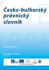 Obálka pro Česko-bulharský právnický slovník