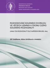 Obálka pro Rozhodování Soudního dvora EU ve věcech příslušnosti: (Analýza rozhodnutí dle nařízení Brusel Ibis)