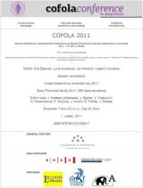 Obálka pro Cofola 2011. The Conference Proceedings