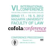 Obálka pro Cofola 2012. The Conference Proceedings