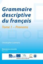 Obálka pro Grammaire descriptive du français. Tome 1 – Pronoms
