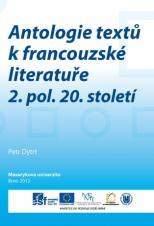 Obálka pro Antologie textů k francouzské literatuře 2. pol. 20. století