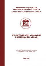 Obálka pro XII. Mezinárodní kolokvium o regionálních vědách. Sborník příspěvků z kolokvia konaného v Bořeticích 17.–19. června 2009