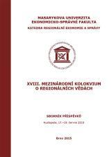 Obálka pro XVIII. mezinárodní kolokvium o regionálních vědách. Sborník příspěvků