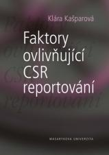 Obálka pro Faktory ovlivňující CSR reportování