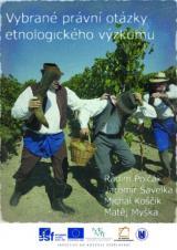 Obálka pro Vybrané právní otázky etnologického výzkumu
