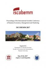 Obálka pro Proceedings of the International Scientific Conference of Business Economics, Management and Marketing (ISCOBEMM 2017)