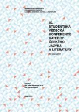 Obálka pro IX. studentská vědecká konference Katedry českého jazyka a literatury: 23. března 2017